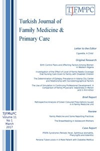 Turkish Journal of Family Medicine and Primary Care